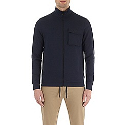 Burton - Navy chest pocket funnel neck zip through jacket