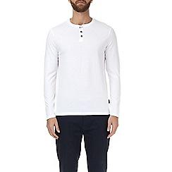 Burton - White long sleeve grandad t-shirt