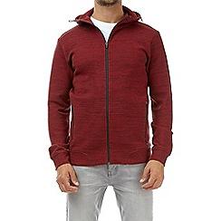 Burton - Red injection fabric interest zip-through hoodie