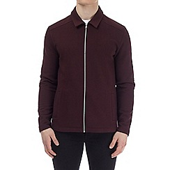 Burton - Burgundy jersey Harrington jacket