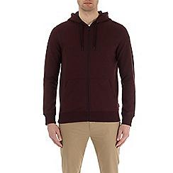 Burton - Burgundy zip-through hoodie