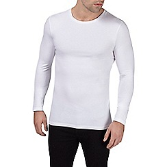 Burton - White muscle fit crew t-shirt