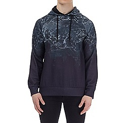 Burton - Black marble print over-head hoodie