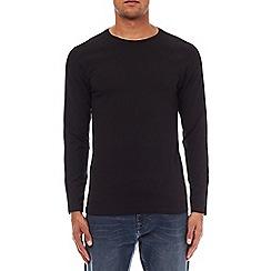 Burton - Black muscle fit long sleeve raglan t-shirt