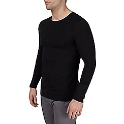Burton - Black muscle fit crew t-shirt