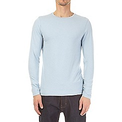Burton - 3 pack ecru, grey and light blue long sleeve muscle fit t-shirts