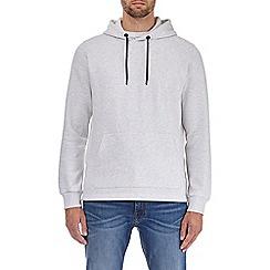 Burton - Ecru overhead hoodie with side zips