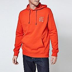Burton - Orange overhead hoodie with compass embroidery