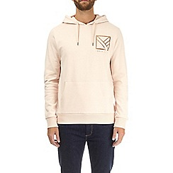 Burton - Pink foil chest print over-head hoodie