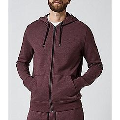 Burton - Burgundy marl zip through hoodie and jogger multipack