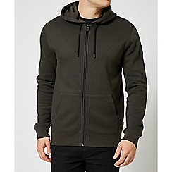 Burton - Khaki zip through hoodie
