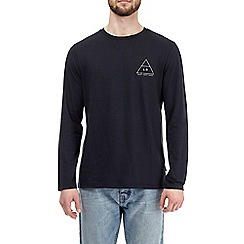 Burton - Navy blue la chest print long sleeve t-shirt
