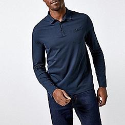 Burton - 2 Pack Grey and Navy Long Sleeve Jersey Polo Shirt