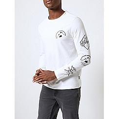 Burton - White mountain print long sleeve t-shirt