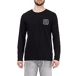 Burton - Black future chest print long sleeve t-shirt