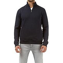 Burton - Navy quarter zip funnel neck sweatshirt