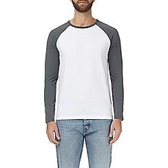 Burton - Silver grey and white raglan t-shirt