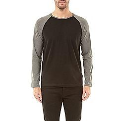 Burton - Paris grey and black long sleeve raglan t-shirt