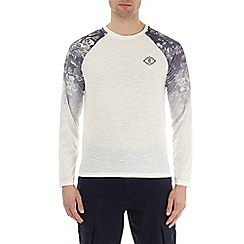 Burton - White long sleeve printed raglan t-shirt