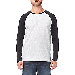 Burton - Black and frost long sleeve raglan t-shirt