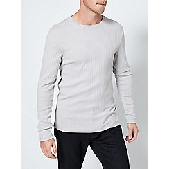 Burton - Grey mist long sleeve ribbed t-shirt