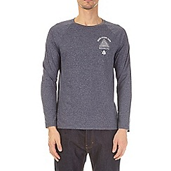 Burton - Navy grindle long sleeve raglan t-shirt with chest print
