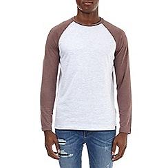 Burton - Pink taupe and frost long sleeve raglan t-shirt