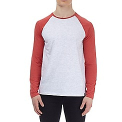 Burton - Red marl and frost long sleeve raglan t-shirt