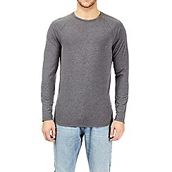 Burton - Charcoal long sleeve muscle fit raglan t-shirt