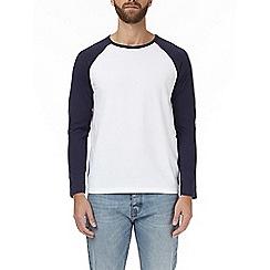 Burton - Navy and white raglan t-shirt