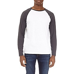 Burton - Grey and white long sleeve raglan t-shirt