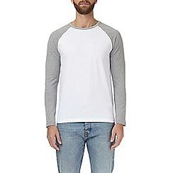 Burton - Grey marl and white raglan t-shirt