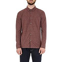 Burton - Berry two-tone long sleeve pique shirt