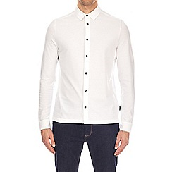 Burton - White Long Sleeve Pique Shirt