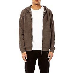 Burton - Charcoal zip-through hoodie