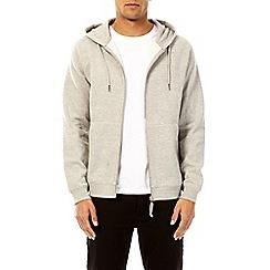 Burton - Grey marl zip-through hoodie