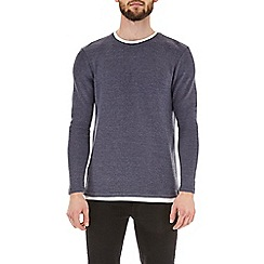 Burton - Blue textured layered t-shirt