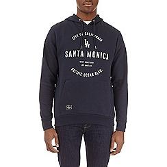 Burton - Navy santa monica printed hoodie