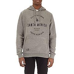 Burton - Grey santa monica printed hoodie