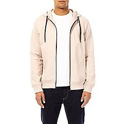 Burton - Pale pink zip-through hoodie