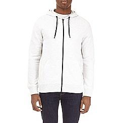 Burton - Frost grey marl zip-through hoodie