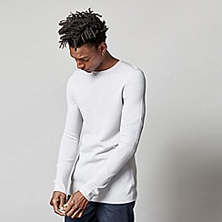 FoR - Hayes Silver Knitted Crew Neck Jumper