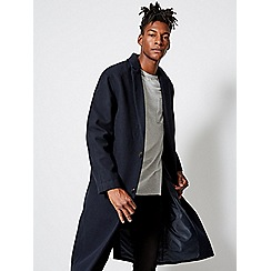 Burton - For jay navy crombie coat