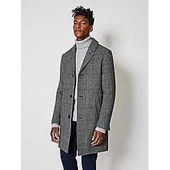 Burton - For claus black and white check Crombie coat