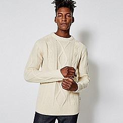 Burton - Olsen ecru cable knit jumper