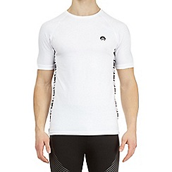 HIIT - White muscle fit stretch t-shirt