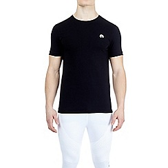 HIIT - Black muscle fit stretch t-shirt