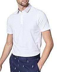 Burton - 1904 'Hetton' white printed collar short sleeve polo shirt