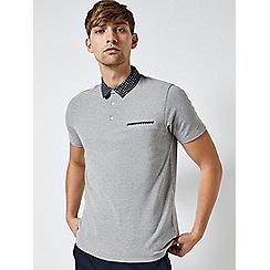 Burton - Dursley grey short sleeve polo shirt