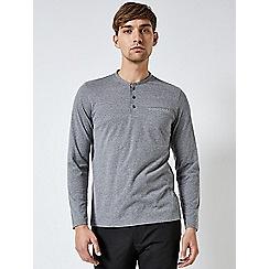 Burton - Greys long sleeve grandad grey t-shirt